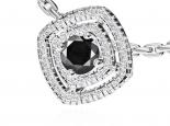 תליון הולו משובץ יהלומים ויהלום שחור מרכזי
