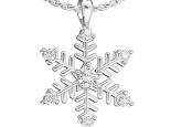 תליון בעיצוב פתית שלג משובץ יהלומים