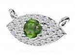 תליון עין משובץ יהלומים עם אבן חן מרכזית