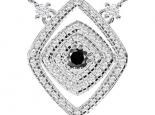 תליון יהלומים לאישה- יהלום שחור מרכזי