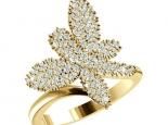 טבעת פרפר יהלומים