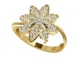 טבעת בעיצוב פרח מיהלומים