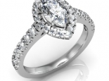 טבעת יהלומים יוקרתית עם יהלום מרכזי מרקיזה