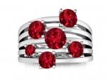 טבעת  המורכבת מ 5 טבעות מחוברות בשיבוץ אבני חן גדולים