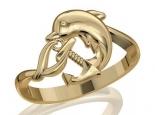 טבעת זהב בעיצוב דולפיו