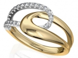 טבעת זהב ויהלומים בעיצוב האן סוף