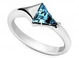 טבעת אבן חן בהירה משולשת