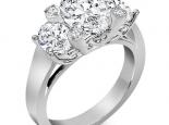 טבעת מעוצבת יהלום אובל מרכזי