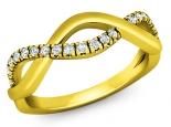 טבעת יהלומים בעיצוב האין סוף