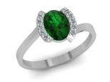טבעת אמרלד ברקת משובץ יהלומים