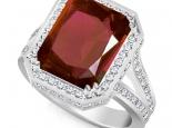 טבעת זהב גדולה ומרשימה עם אבן חן 8-10קרט רובי