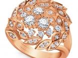 טבעת וינטג מפוארת מורכבת מעלים