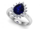 טבעת דיאנה אבן חן טיפה ספיר אמרלד או ברקת