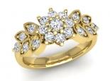 טבעת יהלומים וינטג