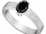 טבעת וינטג מעוצבתיהלום שחור מעל קרט