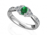 טבעת אמרלד ברקת עדינה