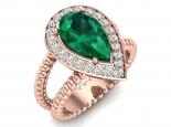 טבעת אבן חן טיפה אמרלד ברקת ספיר רובי ועוד