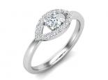 טבעת יהלומים מעוצבת עין