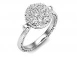 טבעת יהלומים מהודרת ונוצצת