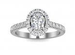 טבעת אירוסין יהלום אובל- 0.30 נקודות מרכזית