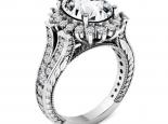 טבעת דיאנה מרשימה טבעת וינטג'- יהלום מרכזי
