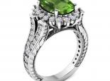 טבעת דיאנה מרשימה טבעת וינטג'- אבן חן מרכזית