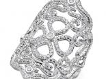 טבעת יהלומים מעוצבת לאישה- עיצוב וינטג'