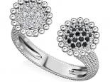 טבעת יהלומים בעיצוב אישי- יהלומים שחורים