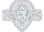 טבעת יהלומים בעיצוב טיפה