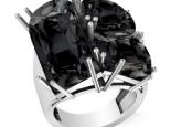 טבעת יהלומים שחורים יוקרתית