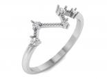 טבעת עדינה לאישה - טבעת זהב ויהלומים
