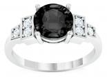 טבעת יהלום שחור מעוצבת