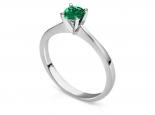 טבעת קלסית עם אבן חן רובי אמרלד או ספיר 1 קארט