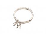 """טבעת לשיבוץ יהלום סוליטר בגודל 0.50 עד 1.5 קראט בעיצוב מלכותי דמוי כתר יפייפה 6 שיניים - """"VENUS"""""""