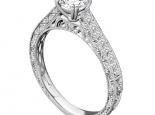 טבעת אירוסין בעיצוב וינטג'.