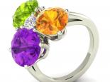 טבעת אבני חן גדולה