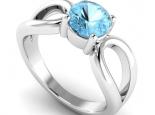 טבעת אבן חן בלו טופז