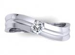 טבעת יהלום מעוצבת.