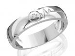 טבעת נישואין עיצוב פעימת לב טבעת לאישה