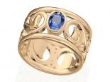 טבעת זהב אבן חן ספיר אמרלד ברקת רובי