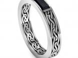 טבעת נישואין בעיצוב מיוחד - יהלום שחור