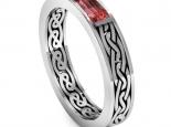 טבעת נישואין בעיצוב מיוחד- רובי