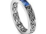 טבעת נישואין בעיצוב מיוחד- ספיר