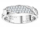 טבעת נישואים משובצת