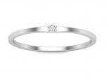 טבעת נישואין עם יהלום קטן