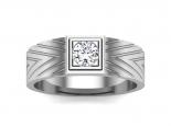 טבעת נישואין עם יהלום