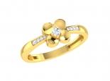 טבעת פרח משובצת יהלומים לנערה
