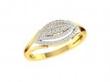 טבעת זהב ויהלומים לאישה