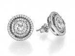 """זוג עגילי יהלומים בשיבוץ עשיר במיוחד במשקל כולל של 1.10 קראט!  - """"SATURN"""""""