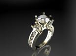 טבעת יהלום בעיצוב משחקי הכס